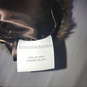 Restoration Hardware Party Supplies - LUXE FAUX FUR WINE BAG euc